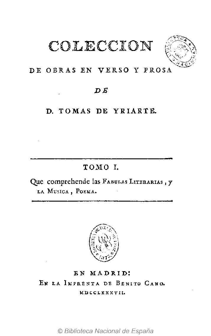 Biblioteca Nacional De España On Twitter La Fábula Es Un