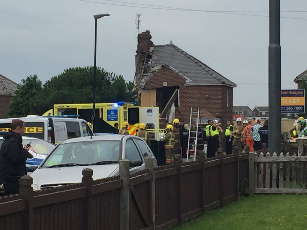 Sunderland house destroyed in explosion that 'sounded like bomb'