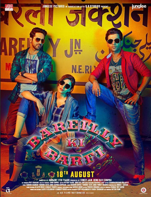 After the ड्रामा & ठुमका पेश करते हैं #BareillyKaSwag. Check out our new poster from @BareillyKiBarfi – In Cinemas 18th Aug. https://t.co/27xjmPaHHq