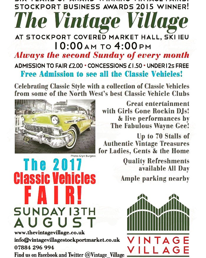 In other news we are here this Sunday for @Vintage_Village in Stockport&#39;s #classiccar fair!  #vintage #vintagefair  #stockport #stokeontrent<br>http://pic.twitter.com/5apObxhnfB
