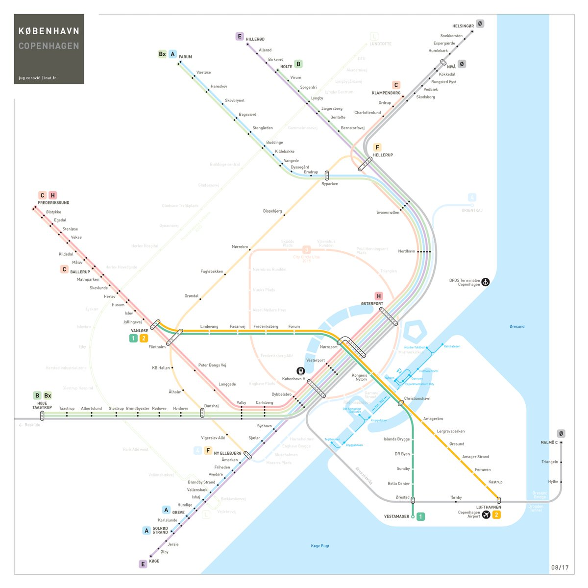 Jug Cerovic on Twitter Integrated map of Copenhagen Metro S