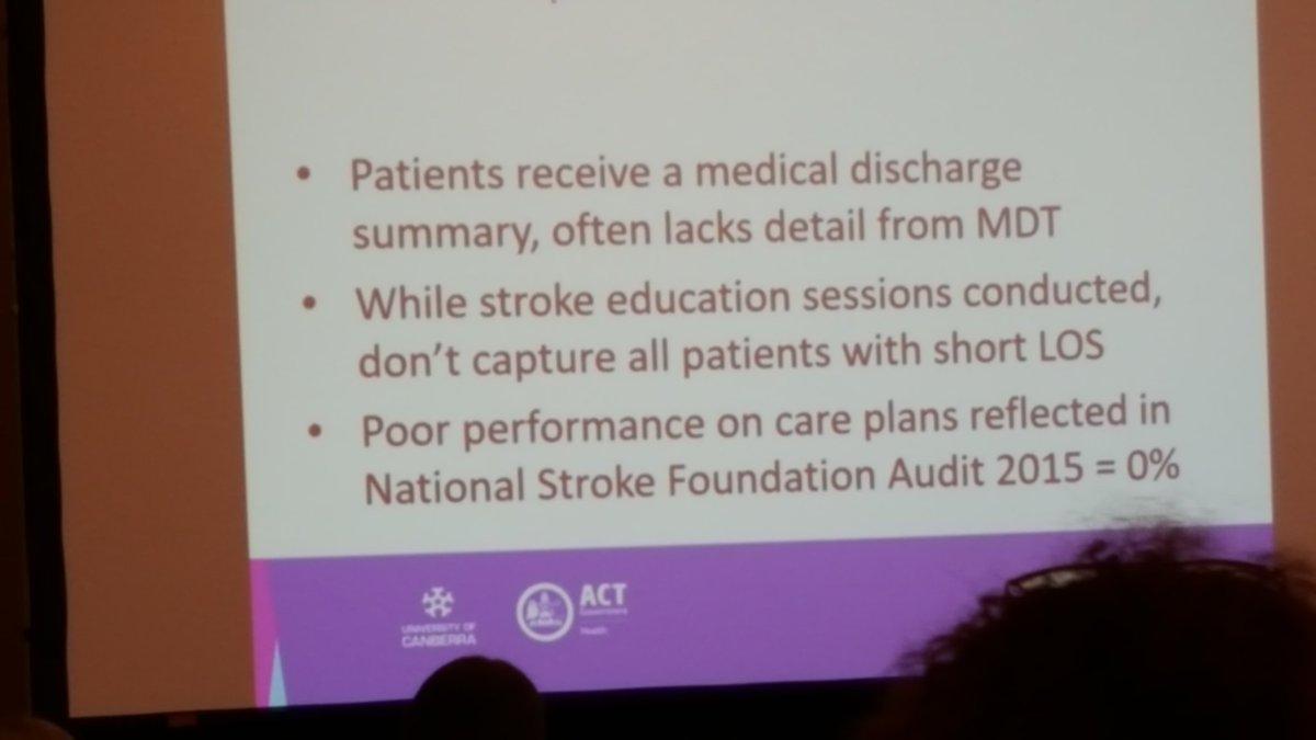 #smartstrokes17 Stroke survivors medical discharges - lack of MDT detail <br>http://pic.twitter.com/pN9XTLZcra