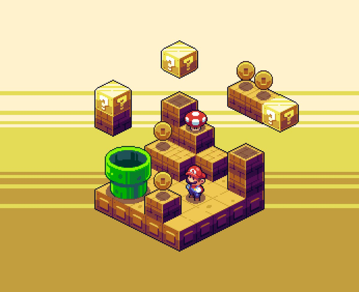 A little Italian man searches for his purpose. For @Pixel_Dailies! #pixel_dailies #pixelart #isometric_mario<br>http://pic.twitter.com/Iqf97tfZ6o