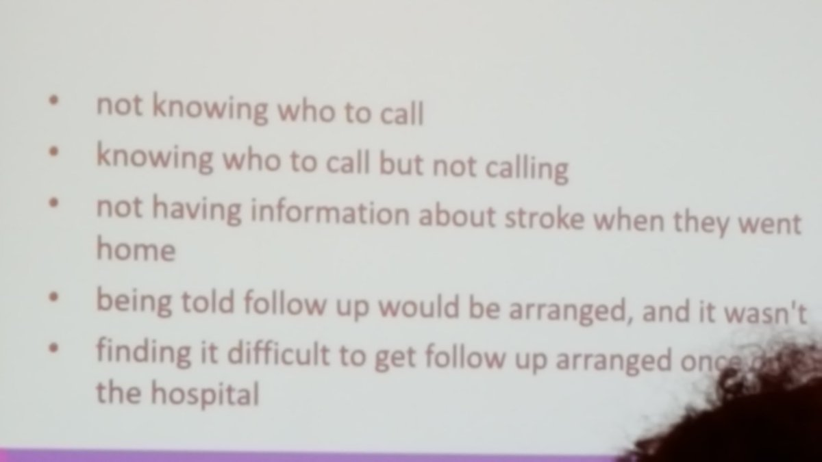 #smartstrokes17 Stroke survivors need to know who to calll post discarge - list of contacts on D/C helps <br>http://pic.twitter.com/FaBcHtBdpq