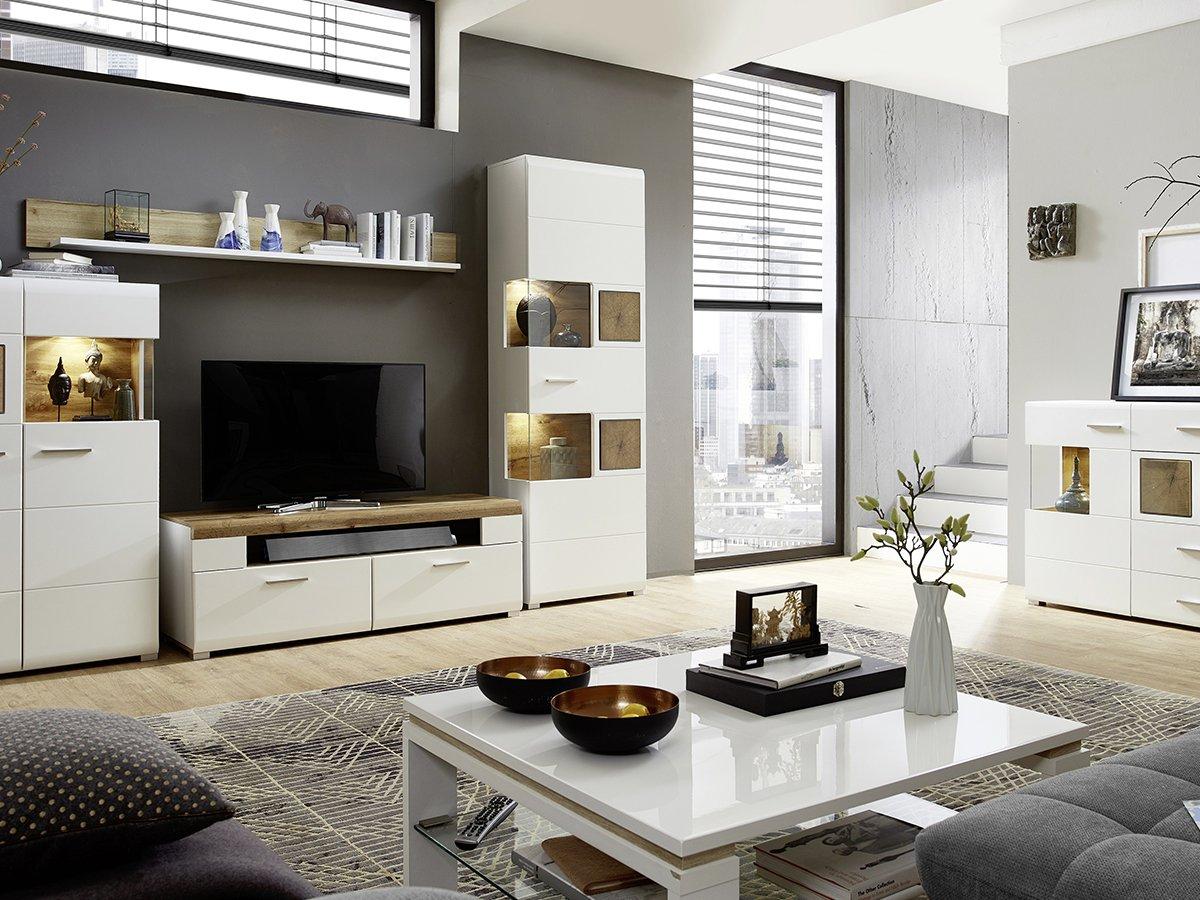 Moebelkarton On Twitter Lust Auf Ein Neues Wohnzimmer Komplettes Wohnwand System In Hochglanz Weiss Mit Hirnholz Absetzung