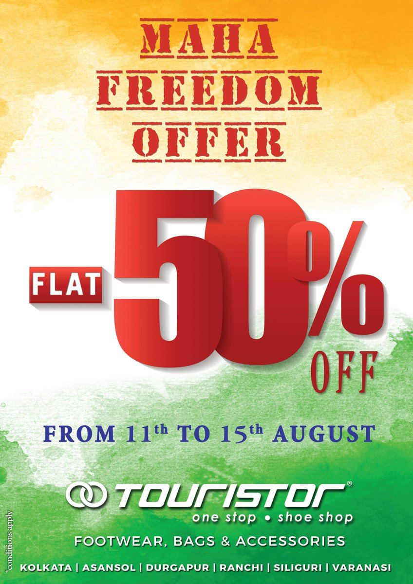 #Once_again #Freedom_Offer #Flat_50% Off #Big_Dream #Big_Discount #Salute_Our_Soldier #Jai_Hind #Happy_Independence_Day_In_Advance