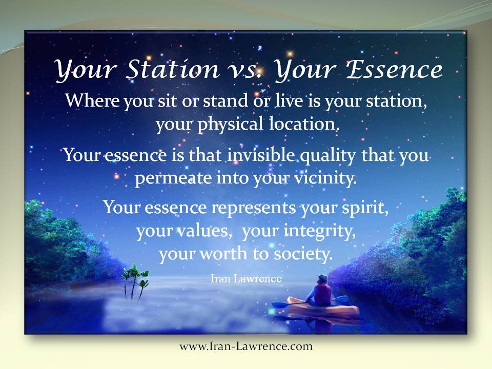 Your Station vs. Your Essence - Where you sit or stand or live is your station, your physical location. #Station #Essence #Spirit<br>http://pic.twitter.com/6i2IfzFkjJ