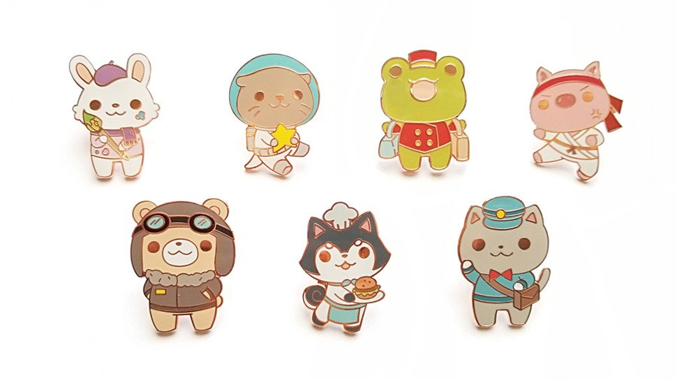 The critters in @ririFM's new enamel pin series are adorable, and hard workers!  https://t.co/prDJLTnjqf https://t.co/ElAn52biY7