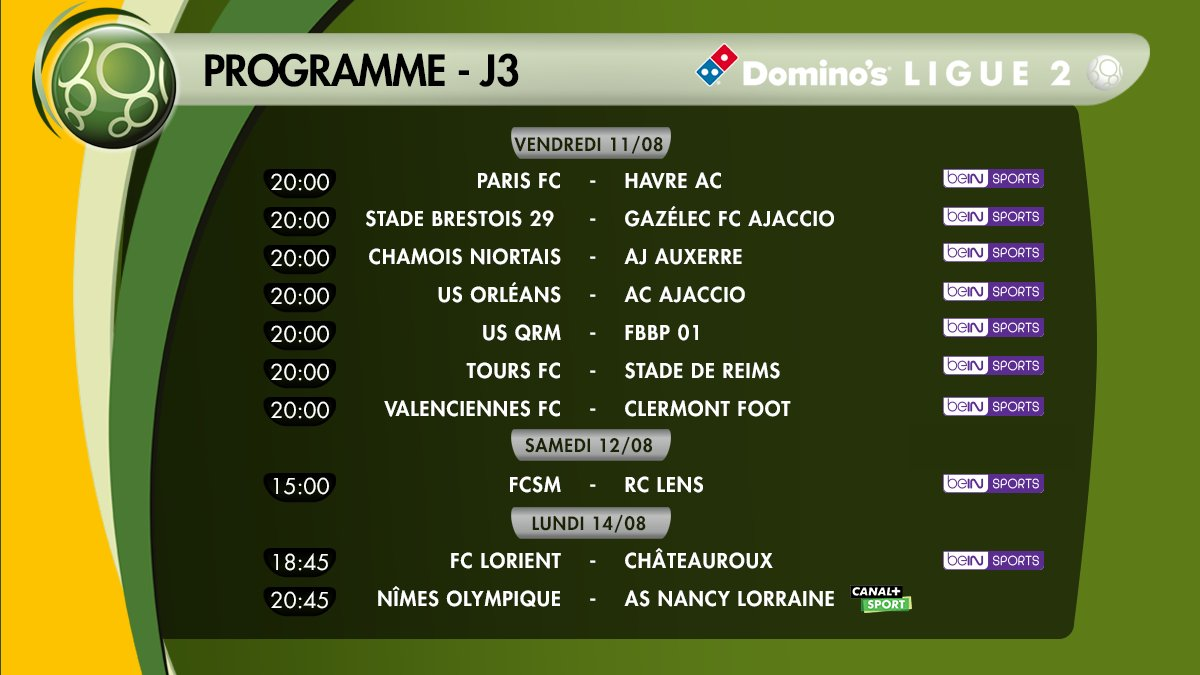 Le programme #FootTV #Ligue2 de ce week-end  #TeamOM #sports #football #DominosLigue2   <br>http://pic.twitter.com/6JZOqvwb9B