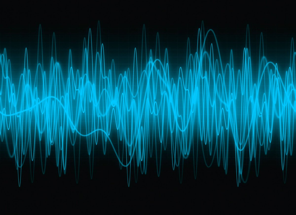 Картинка звуковые волны, открытка юбилеем