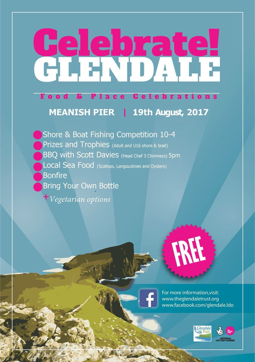 Fishing comp and BBQ with @ScottDaviesChef Sat 19th August @GlendaleHM #skyelarder #Glendale @BIGScotland #celebrate #food #local #produce <br>http://pic.twitter.com/Fn0sDh17SA