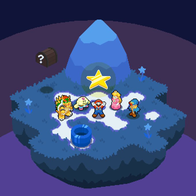 Luckly, did my #isometric_mario in a floating #isometric_island lol @Pixel_Dailies #pixel_dailies #SuperMarioRPG<br>http://pic.twitter.com/S1DN6zE1xI