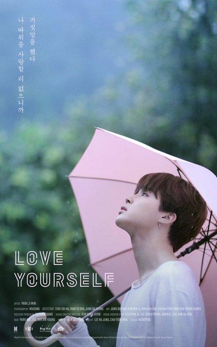 Resultado de imagem para BTS DIVULGA POSTER DE LOVE YOURSELF
