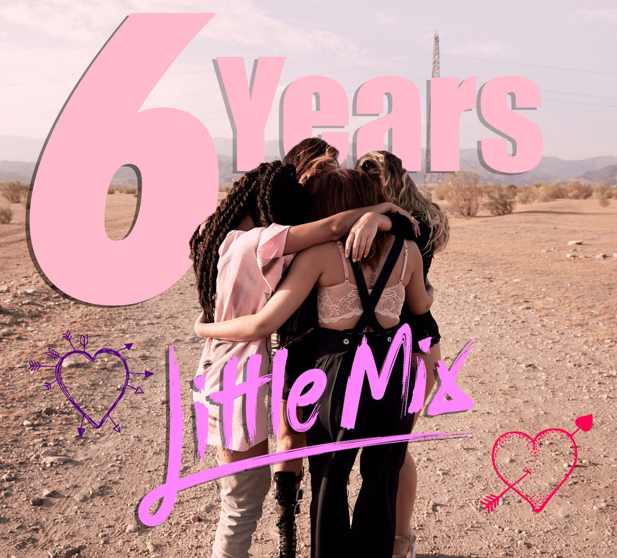#SixYearsOfLittleMix! 😭💕 All because of YOU! ✨ We love you guys to the moon and back! xx the girls xx