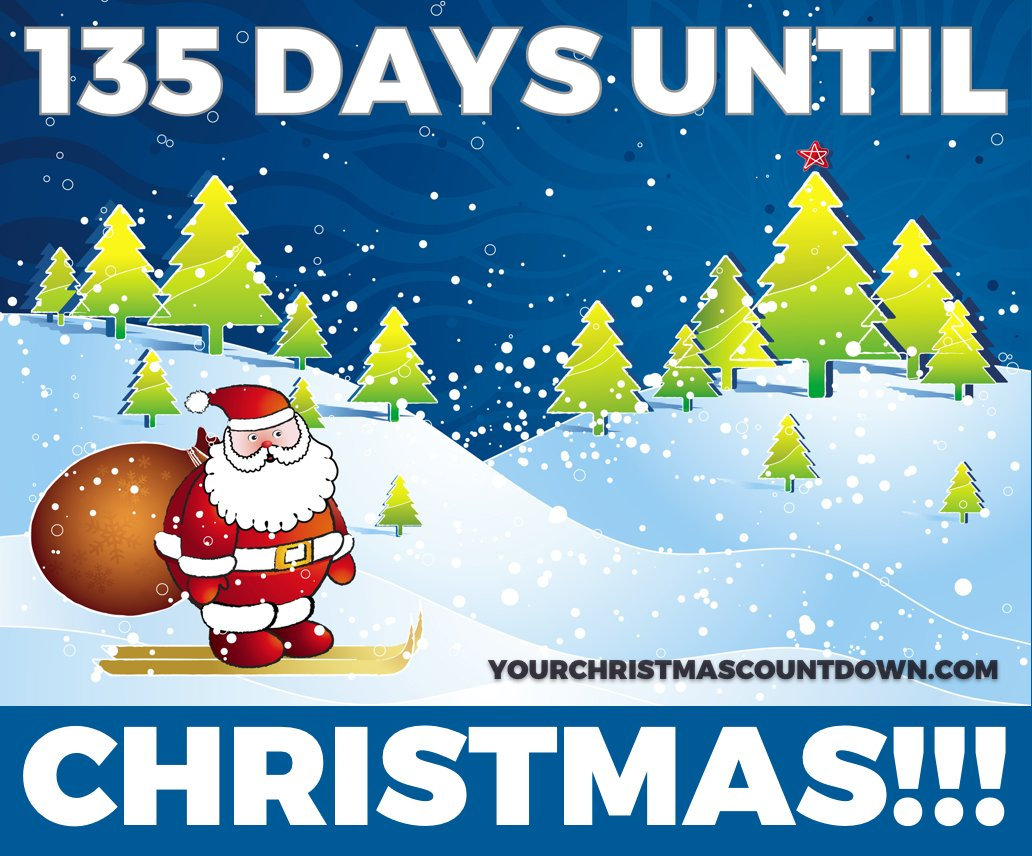 Countdown Till Christmas.Your Christmas Countdown On Twitter 135 Days Until