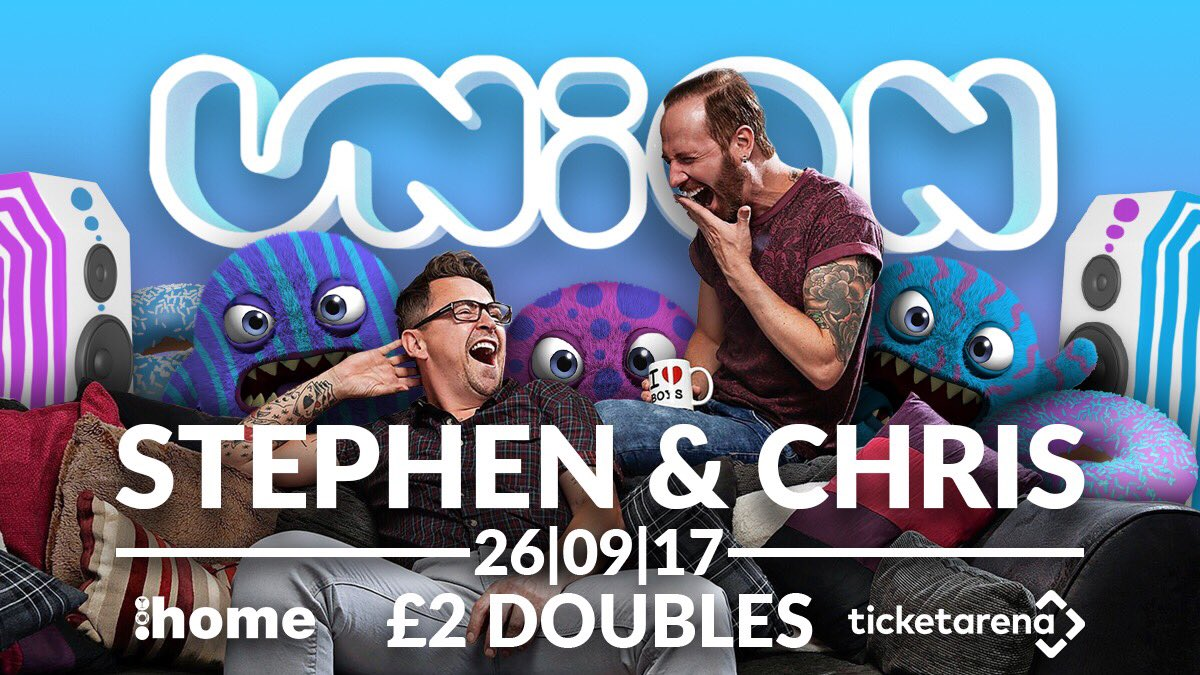 The @C4Gogglebox Takeover with Stephen &amp; Chris!   Tuesday 26.09.17  @HomeLincoln  #JOINTHEUNION <br>http://pic.twitter.com/TrFvBV5sNB