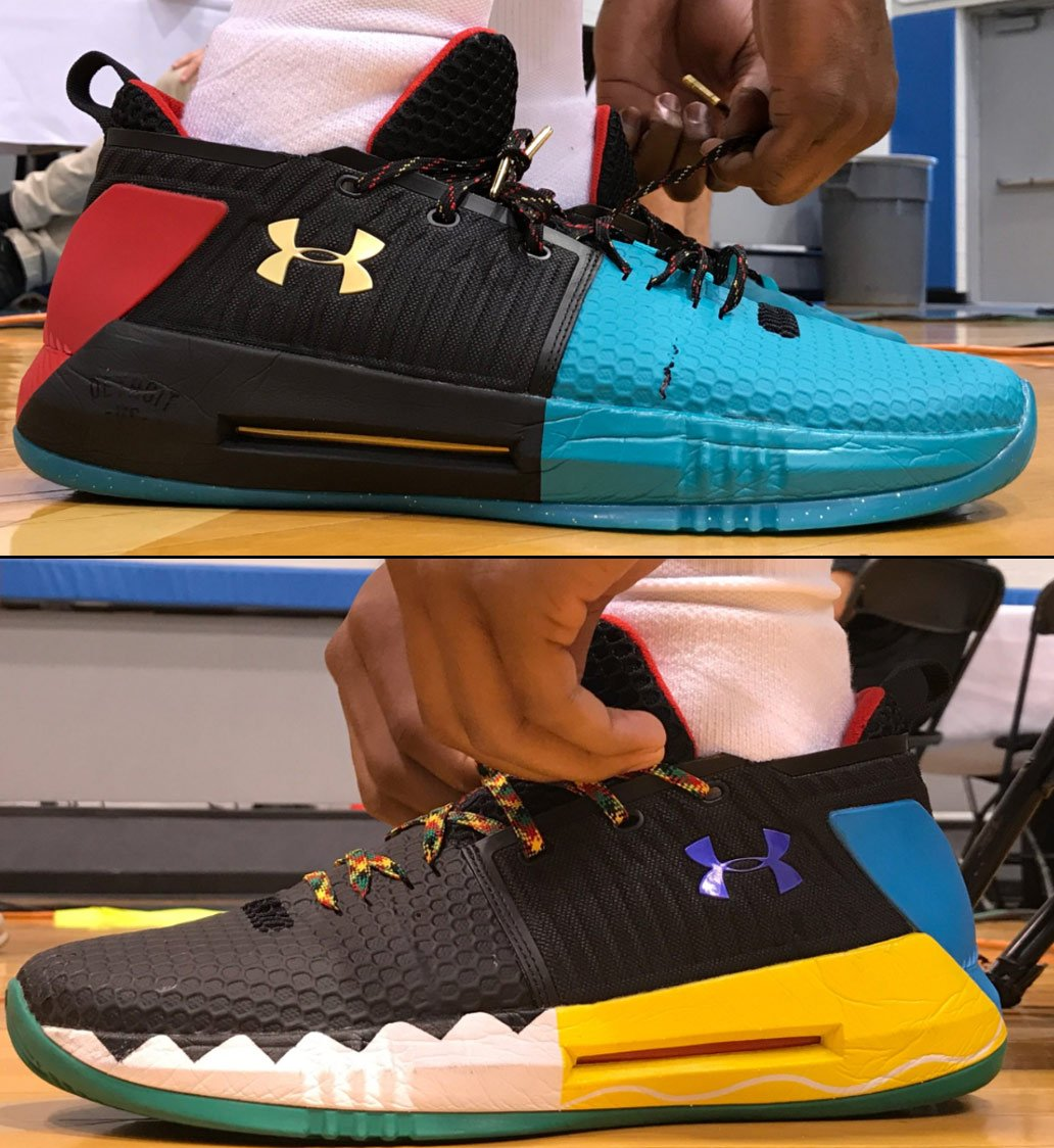 Josh Jackson & Dennis Smith Jr's Under Armour #NBAKicks at the #PaniniNBARookie shoot! https://t.co/sdT4Pfs7Km