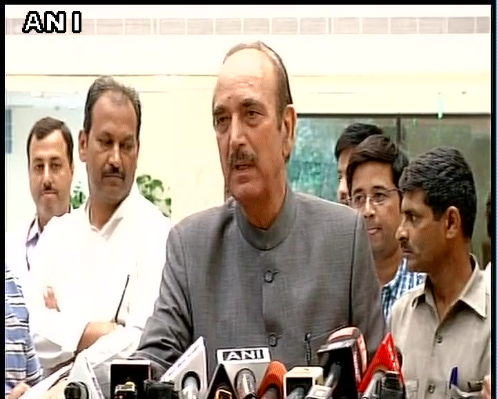 Agenda was to thank Presidential and Vice Presidential candidates of opposition parties: Ghulam Nabi Azad after opposition parties' meet