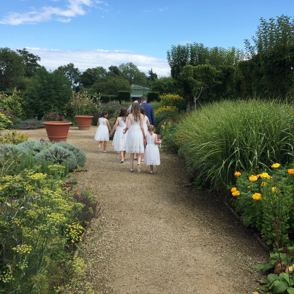 Job done! These little cuties making their way to the #white #garden for much needed refreshments @Loseleyevents