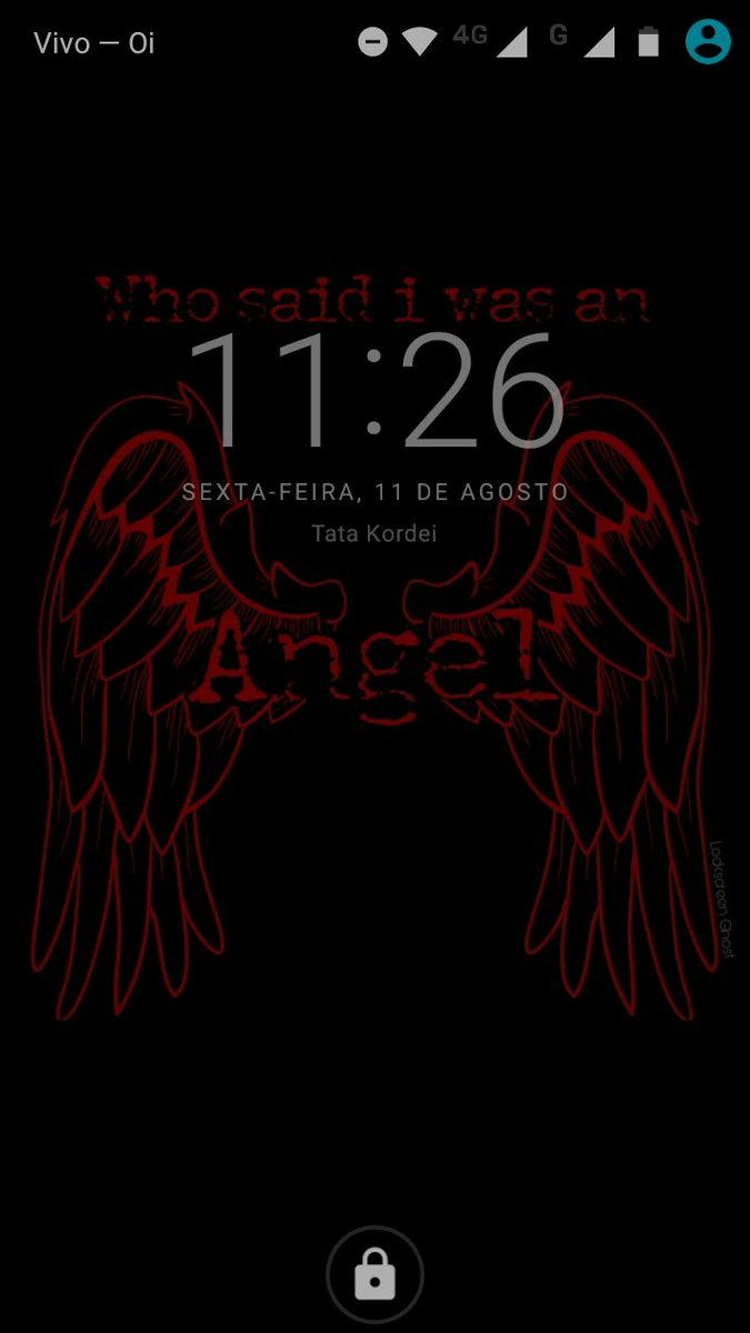 Lockscreen 5H - Angel RT pra receber na...