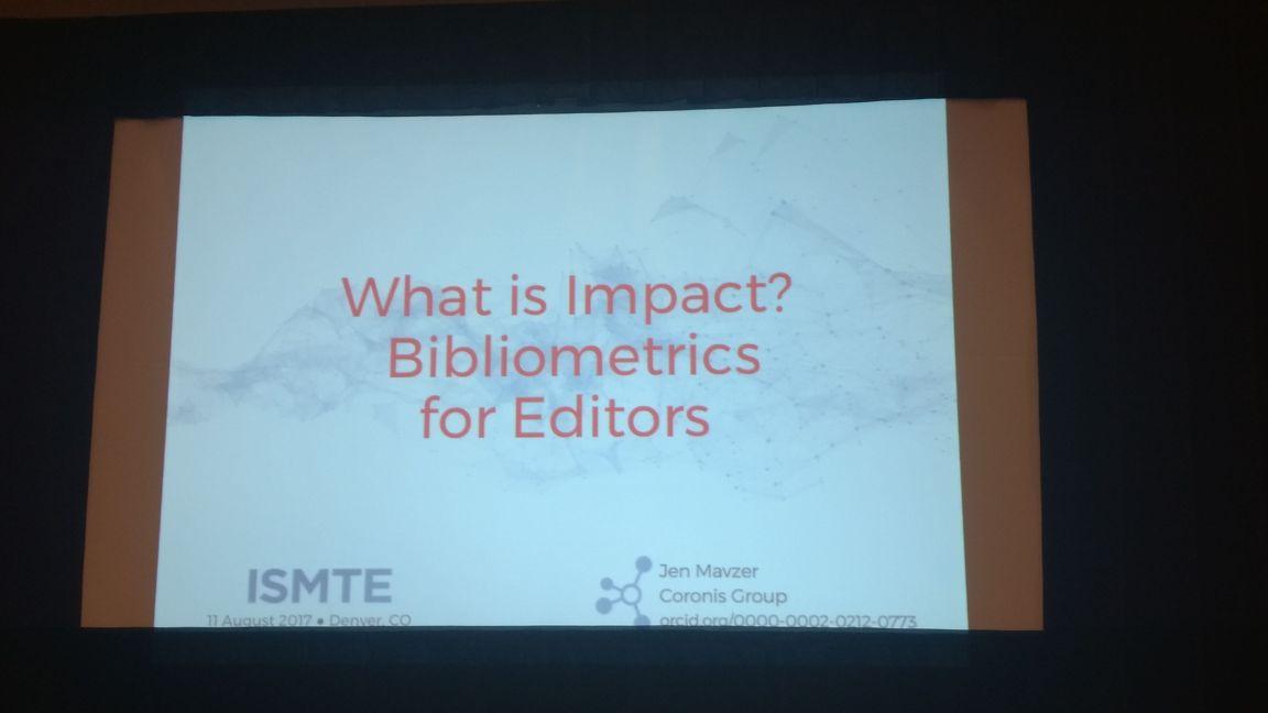 The topic that often elicitssome interesting responses #ISMTE2017 #bibliometrics #impact<br>http://pic.twitter.com/ezZrk0LQpN