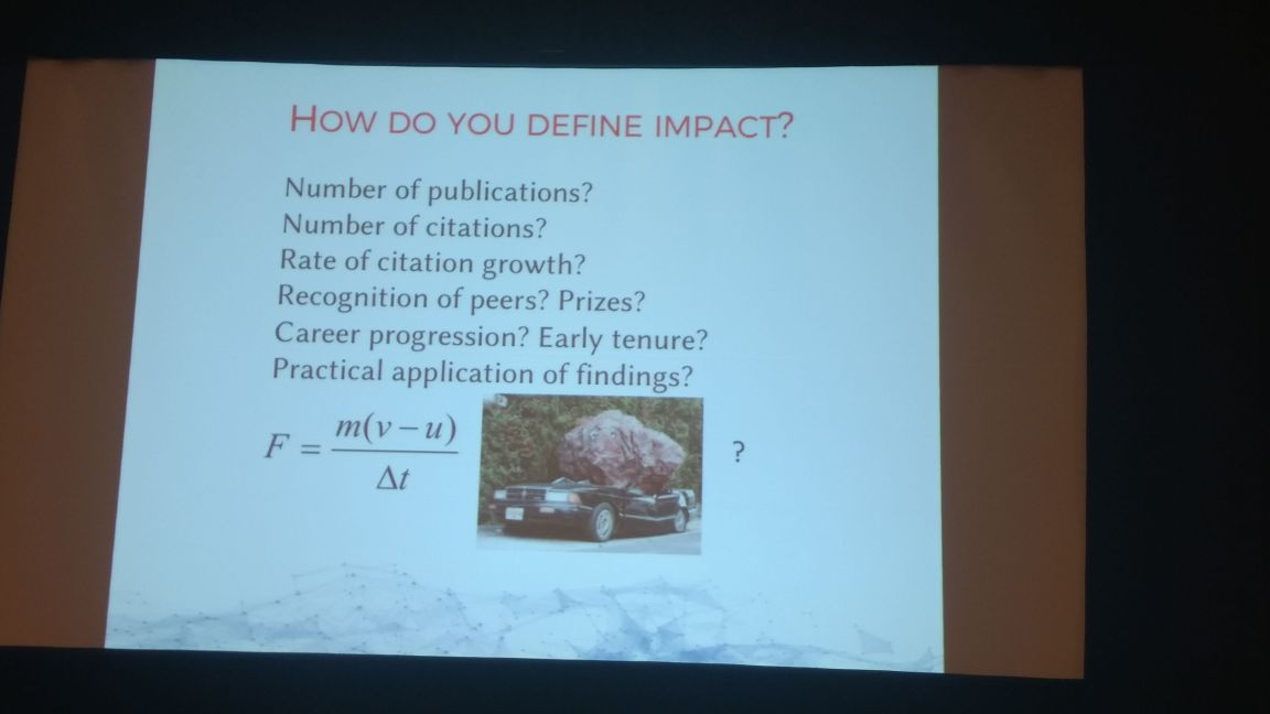 #Citations are easy to understand, #impact is hard: Jen Mavzer #ISMTE2017<br>http://pic.twitter.com/y8BQ2iQAfE