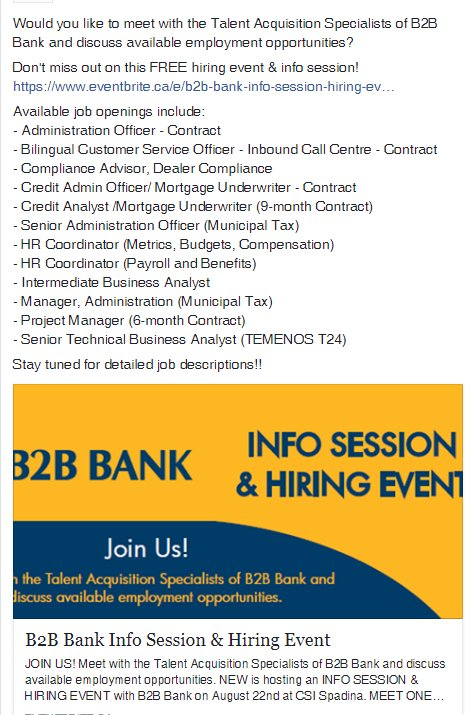 interested in job opportunities with b2b bank don t miss out on this free hiring event info session