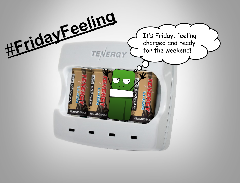 It's Friday, feeling fully charged for the weekend #FridayFeeling https://t.co/JWs9RwmmPd