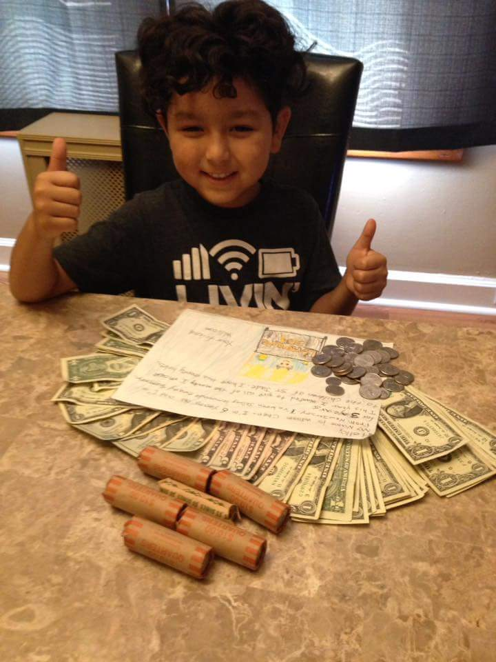 My son sold lemonade this summer. He made $215. He decided to donate it to @StJude . #livingourvalues #entrepreneurialspirit #prouddad <br>http://pic.twitter.com/BmJIqpi2Uk
