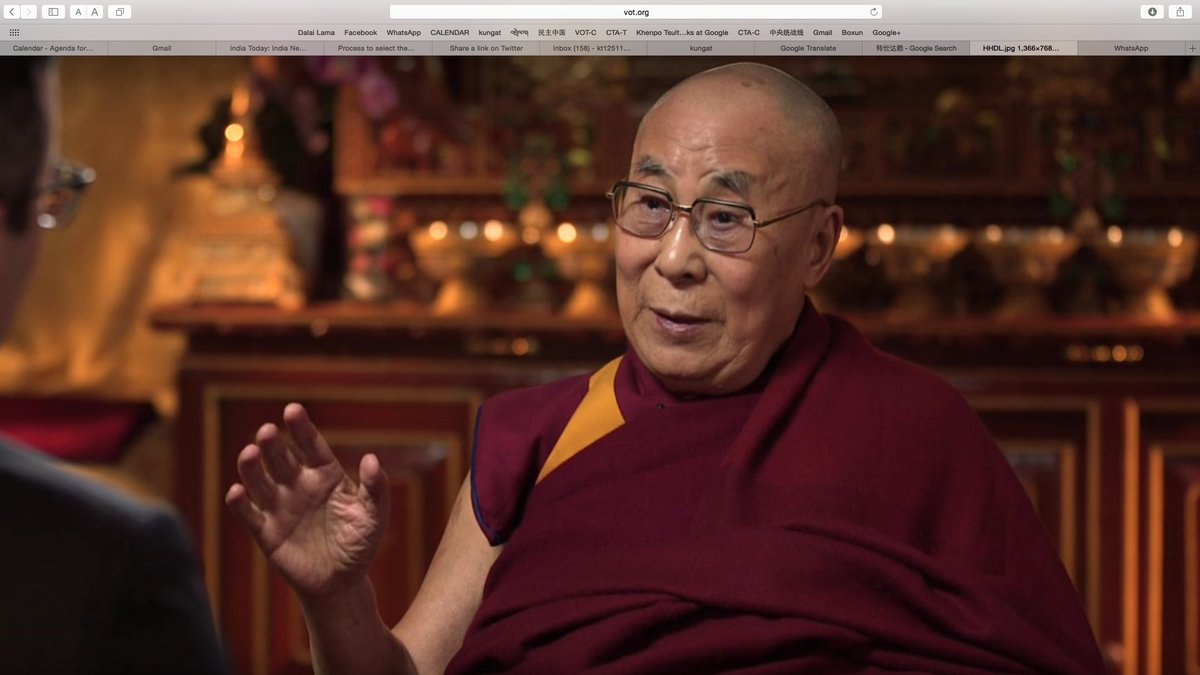 达赖喇嘛尊者:在未来的一两年内,将开始进行一些寻找其转世(第十五世)的准备工作。(有视频) https://t.co/tgWT2RaRDk https://t.co/6YrZCnFk0z
