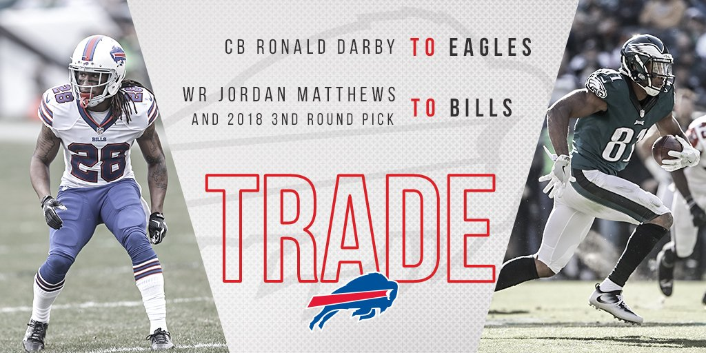 Eagles Acquire CB Ronald Darby In A Trade From The Bills