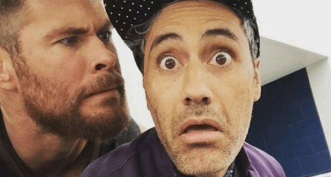 Thor: Ragnarok Director Taika Waititi Teases Chris Hemsworth With Cheeky Happy