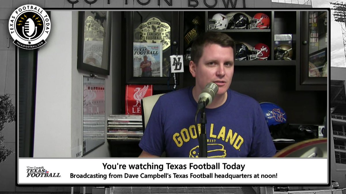 New diana high school tx fax - Dave Campbell Texas High School Podcast With The New Diana Badge In The Background