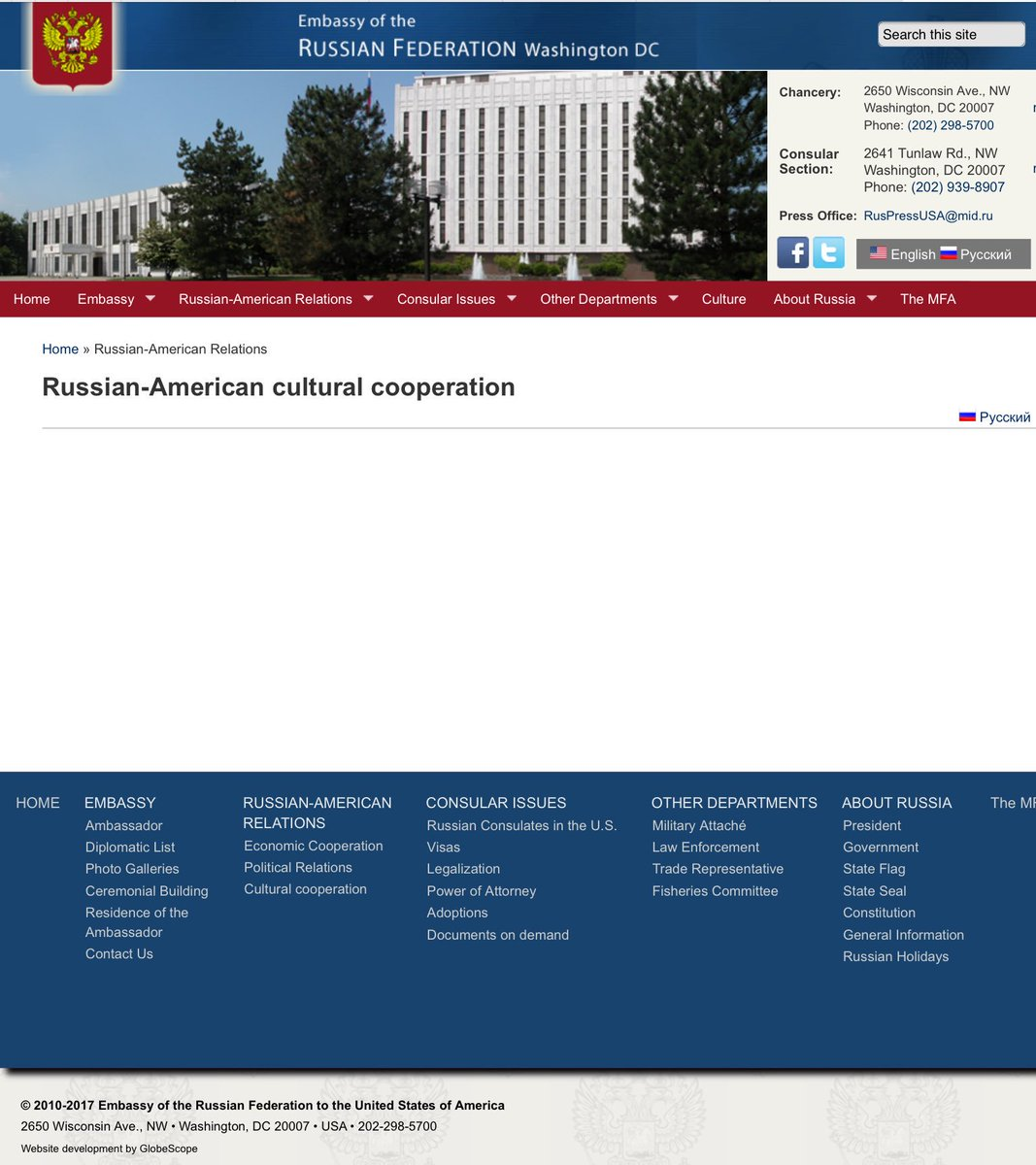 Russian-American: Hmm   All three sections about Russian
