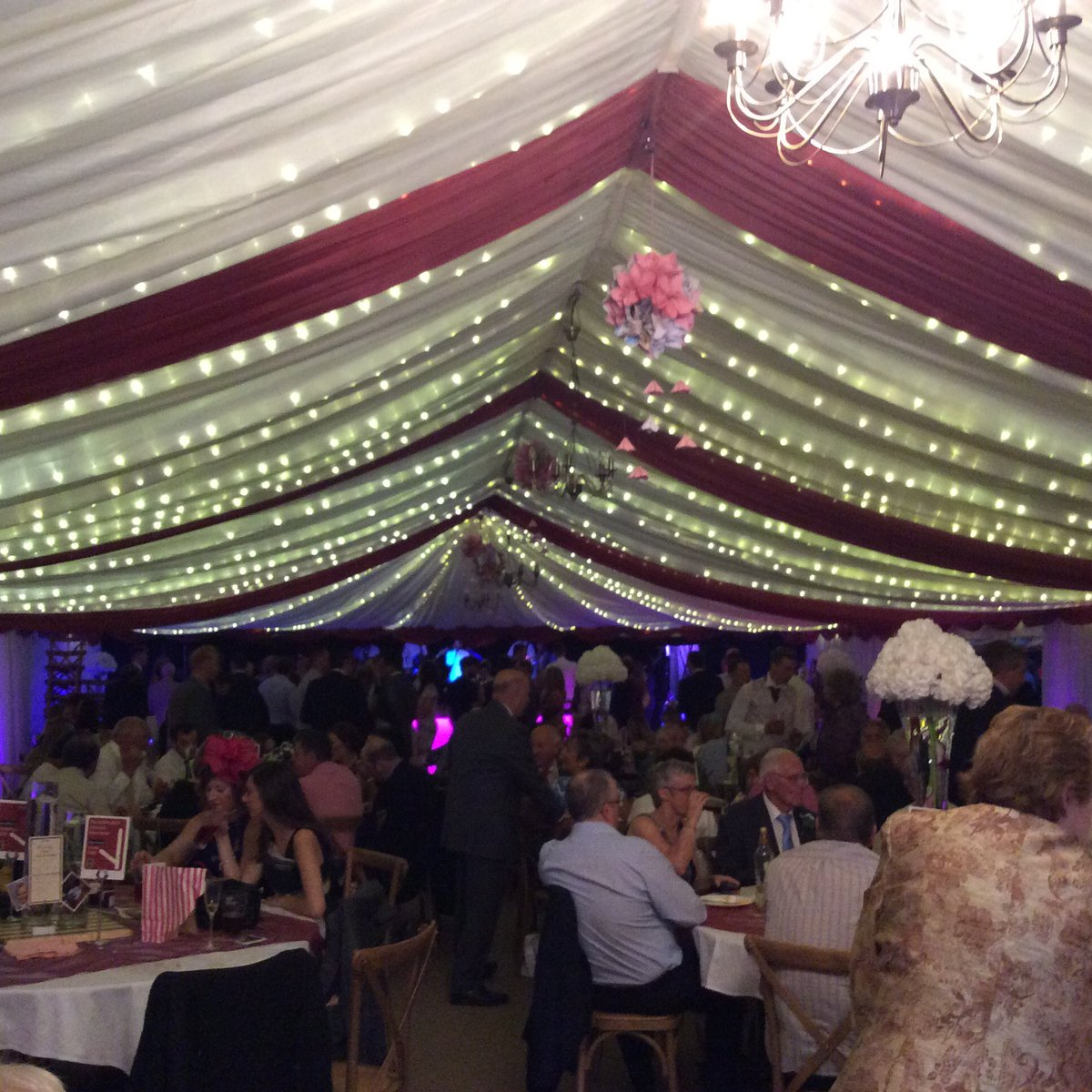 Some images from #kerry&Adam #wedding #marquee .... they went with a claret theme