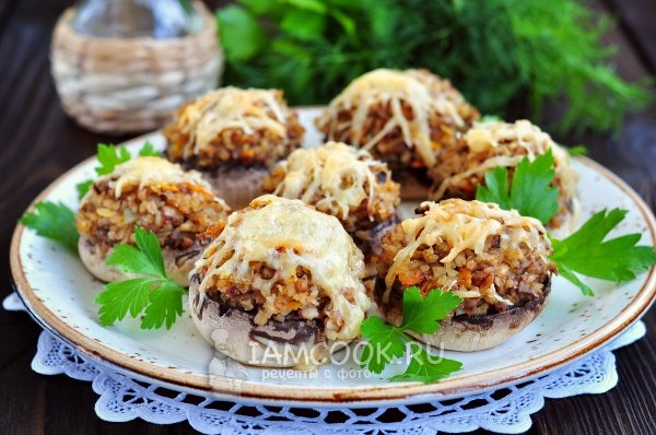 Фаршированные грибы рецепты