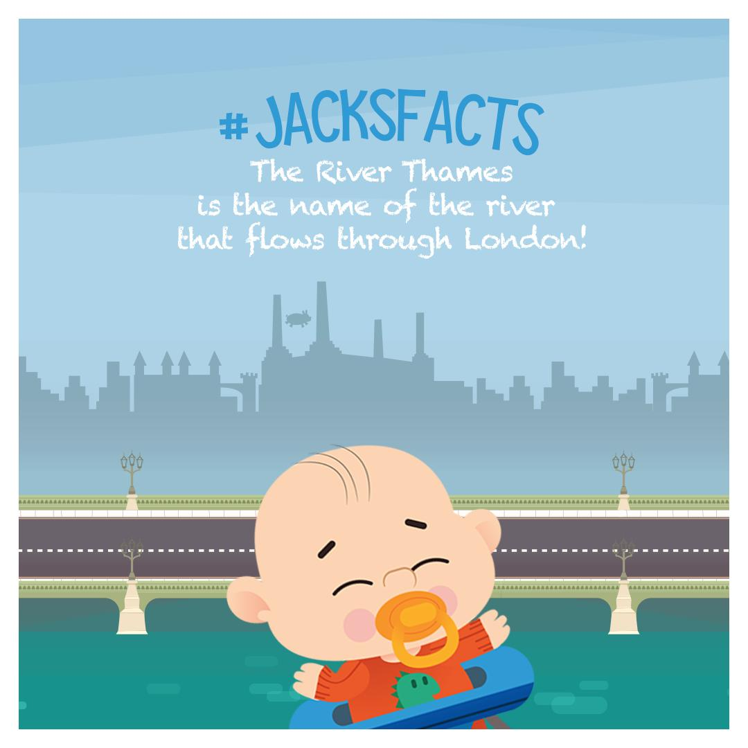 The River Thames is the name of the river that flows through London! #Jack'sFacts <br>http://pic.twitter.com/gtkVip8Sgr