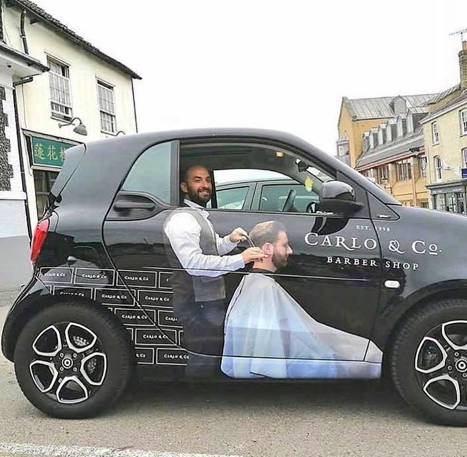 Simon Sugar On Twitter Clever Car Wrap From A Barber Shop Https