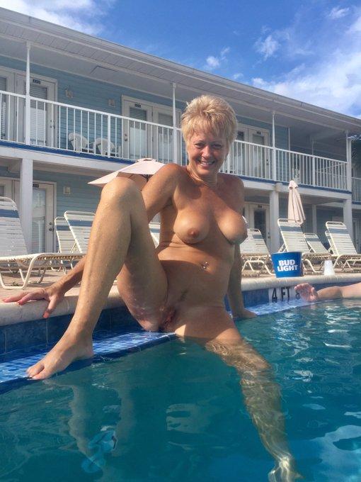 #SundayFunday  #NakedOutside  #nakedpoolday I love being naked! I hope your having as much #naked fun