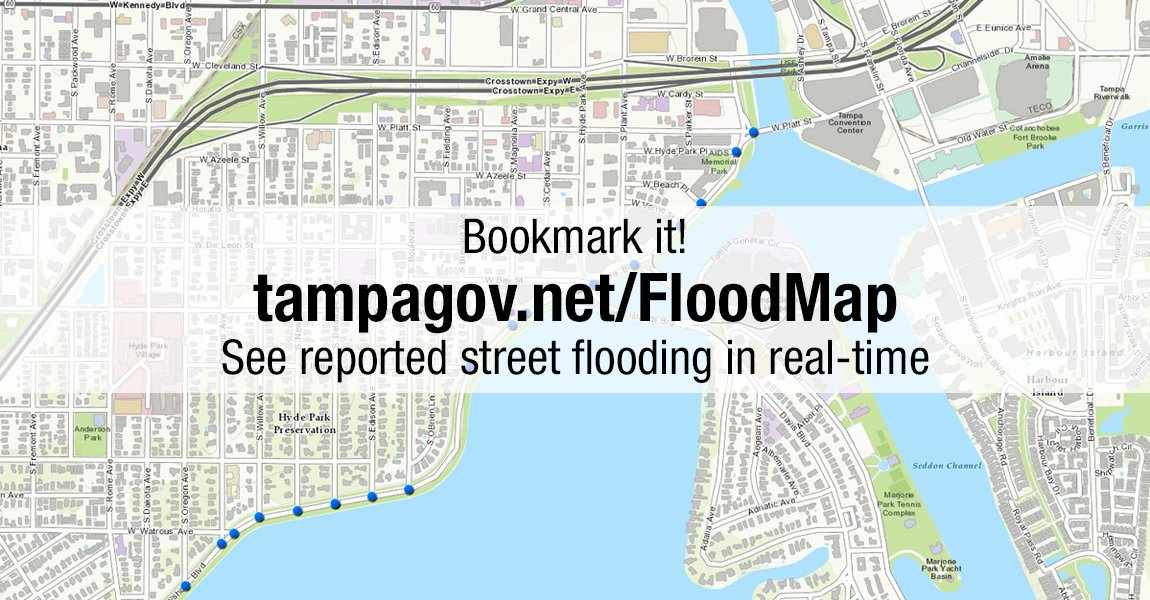 Alert Tampa On Twitter If You Observe Flooding Report It To Us At - Flood check map