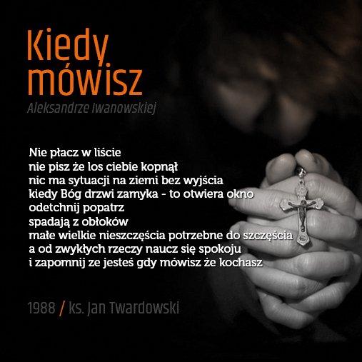 Uživatel Twardowskipoezjaeu Na Twitteru Kiedymowisz