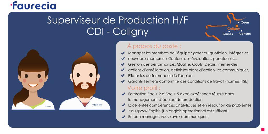 💼 Candidatez et devenez Superviseur de Production H/F pour le Groupe @FaureciaCaligny ! #CDI #Caligny #i4emploi https://t.co/8zhpvSHNNi https://t.co/w9kWYc4nBY
