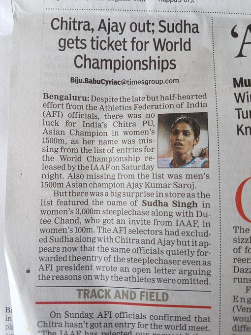 Time to remove all the officials from AFI..the officials are only interested in touring with their families and not Medals for the country https://t.co/AA1RrZssCL