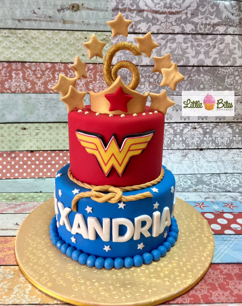 Little Bites Cupcakery On Twitter Wonderwoman Themed Birthday Cake