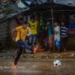 Soccer helps refugees in Bangladesh forget about their exile, at least for a few hours https://t.co/faV1HXKdgb Pix by @Allison_Joyce