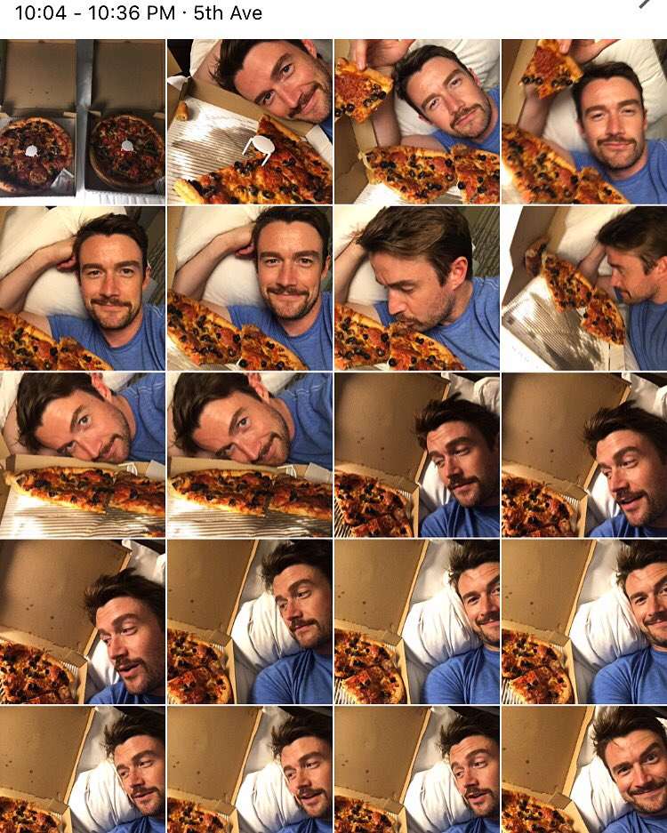 I just spent 30 minutes taking pictures with my pizza. I'm gonna be a nightmare when I have kids. https://t.co/8pi2qulijb