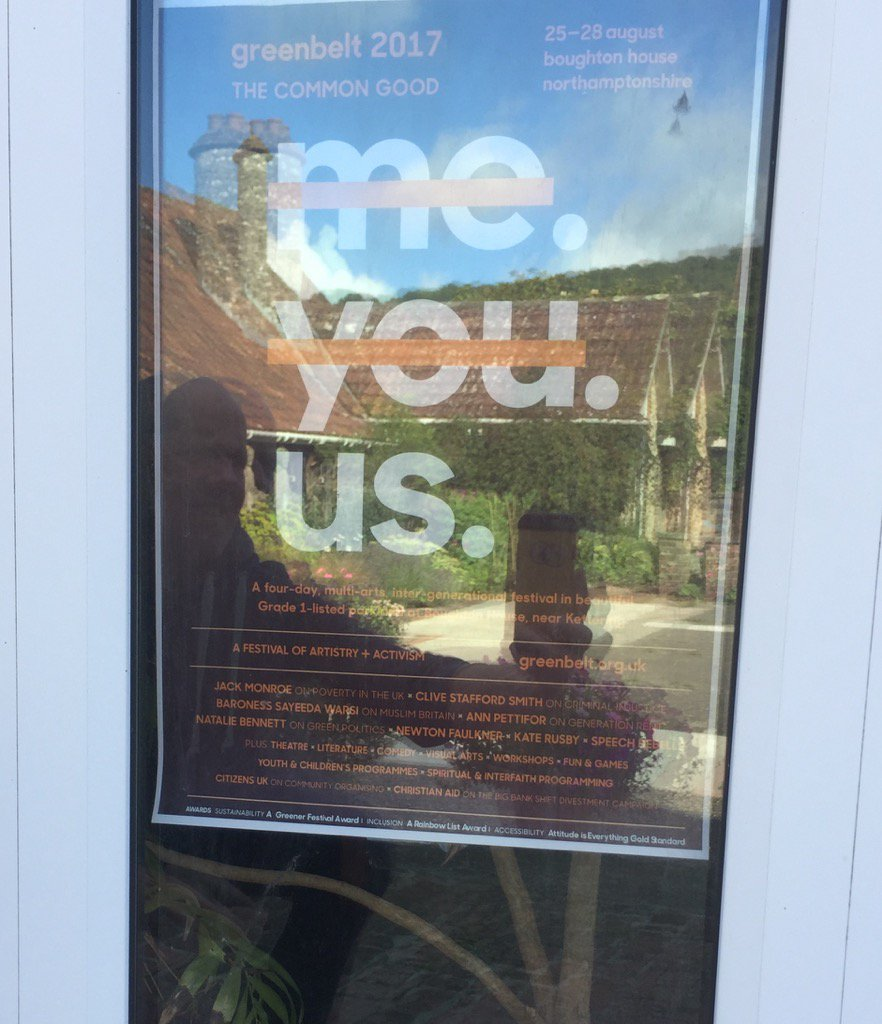 #gb17 poster in the window at @HilfieldFriary. #connections #support #sharedvalues