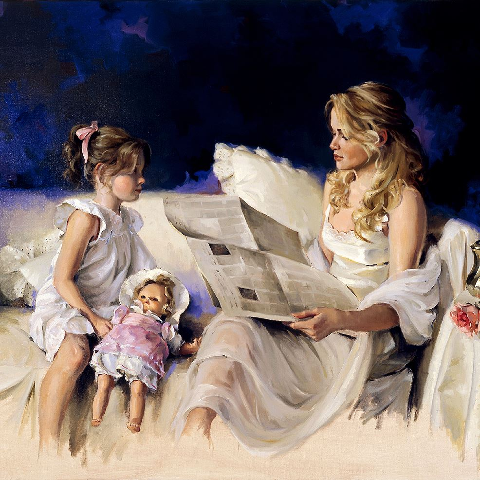 Мать и дочь картинки художников, днем рождения