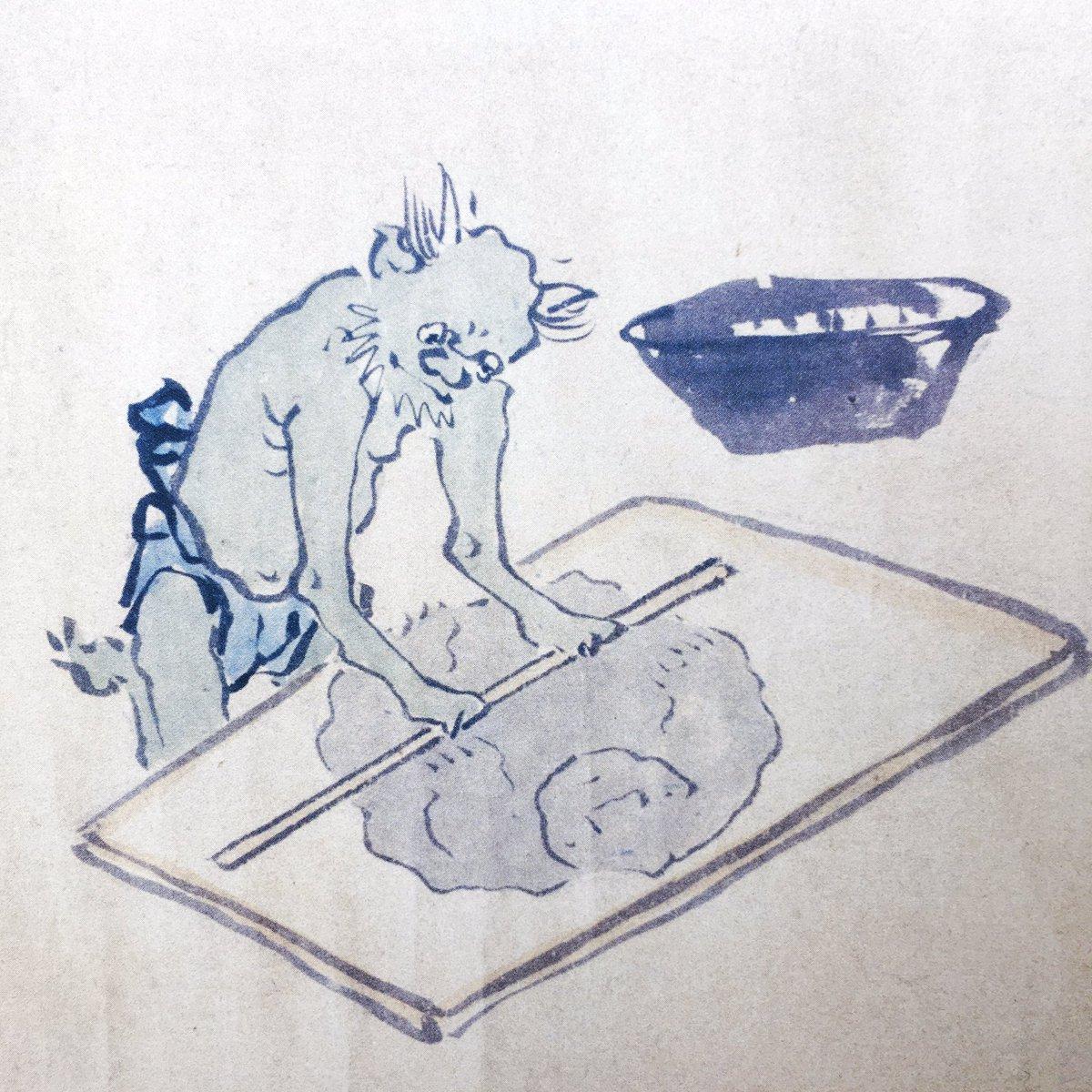 地獄絵図だけを集めた分厚い本が入荷、殺伐とした絵に混じって蕎麦打ちの刑に処されてる人がいる  pie.co.jp/search/detail.…