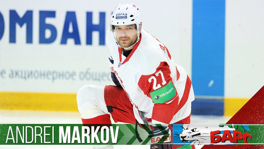 Ak Bars has agreed to terms with defenseman Andrei Markov on a two-yea...